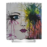 Water Colour - Face Shower Curtain