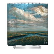 Water Cross Shower Curtain
