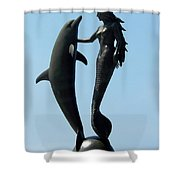 Water Dance Shower Curtain