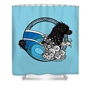 Water Dog Nouveau Shower Curtain