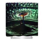 Water Drop Collision Shower Curtain