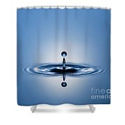 Water Drop In Blue 1 Shower Curtain