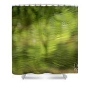 Water Drops On Reflected Pond Shower Curtain