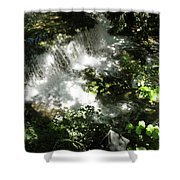 Water Fall In The Woods Shower Curtain