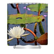 Water Flowers Shower Curtain