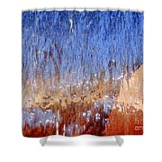 Water Fountain Abstract #63 Shower Curtain