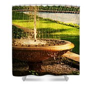 Water Fountain Garden Shower Curtain