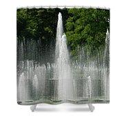 Water Fountain Show - Longwood Gardens In Pa Shower Curtain