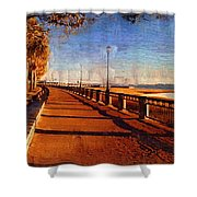 Water Front Park  Shower Curtain