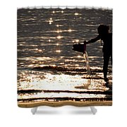 Water Games Shower Curtain