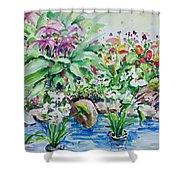 Water Garden Shower Curtain