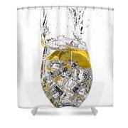 Water Glass Shower Curtain