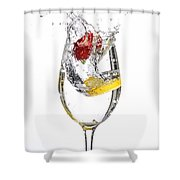 Water Glass3 Shower Curtain