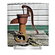 Water Hand Pump Shower Curtain