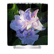 Water Hiacynth Shower Curtain