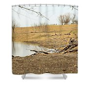 Water Hole 006 Shower Curtain