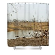 Water Hole 007 Shower Curtain