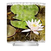 Water Hyacinth Two Wc Shower Curtain