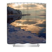 Water Ice Light And Highway 97 Shower Curtain
