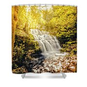 Water In Fall Shower Curtain