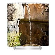 Water In Nature Shower Curtain
