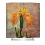 Water Iris - Textured Shower Curtain