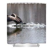 Water Landing Shower Curtain