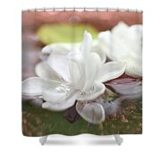 Water Lilac Shower Curtain
