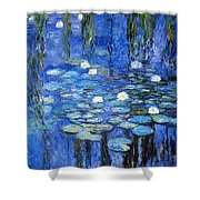 water lilies a la Monet Shower Curtain