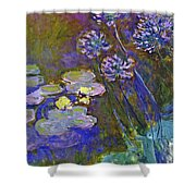 Water Lilies And Agapanthus 1917 Shower Curtain