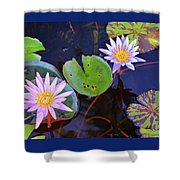 Water Lilies In Kauai Shower Curtain