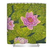Water Lilies Lily Flowers Lotuses Fine Art Prints Contemporary Modern Art Garden Nature Botanical Shower Curtain