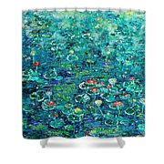 Water Lilies Lily Pad Lotus Water Lily Paintings Shower Curtain