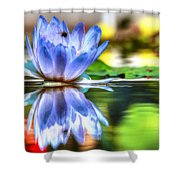 Water Lily And Bee Shower Curtain