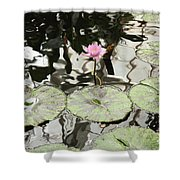 Water Lily Canvas Shower Curtain
