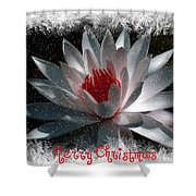 Water Lily Christmas Shower Curtain