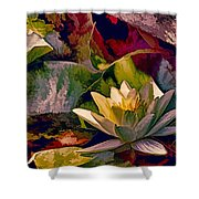 Water Lily In Living Color Shower Curtain