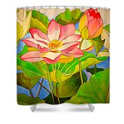 Water Lily Lotus Shower Curtain