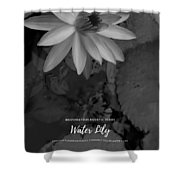 Water Lily Monochrome Shower Curtain