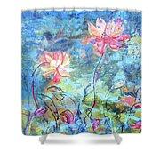 Water Lotus Shower Curtain