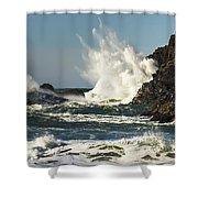 Water Meets Rock Shower Curtain