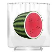 Water Melon Shower Curtain