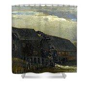 Water Mill At Opwetten Vincent Van Gogh Shower Curtain