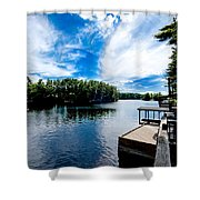 Water Mirrors Sky Shower Curtain