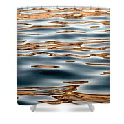 Water Movement- Liquid Gold Shower Curtain