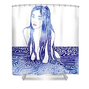 Water Nymph L Shower Curtain