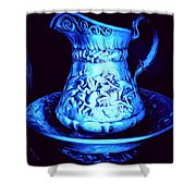Water Pitcher And Bowl Still Life Shower Curtain