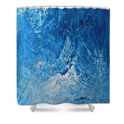Water Planet Surface Shower Curtain