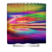 Water Reflections Shower Curtain