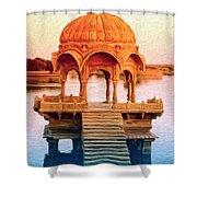 Water Shrine Shower Curtain